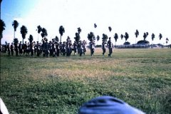 Cadets on Saturday morning parade at Harlingen, Texas 1954